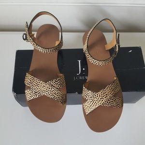 J. CREW | Calf Hair Leopard Sandals | Sz 8